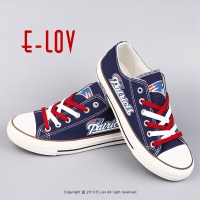 USA Premium Team Fans Canvas Shoes Fashion Low Top Lace Up Men Shoes Print Canvas Shoes