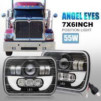 CO LIGHT 5X7 7X6 LED Headlight 55W 6000K Sealed Beam Projector Upgrade 12V24V for Chevy Express Sonoma Truck Nissan Pickup DRL