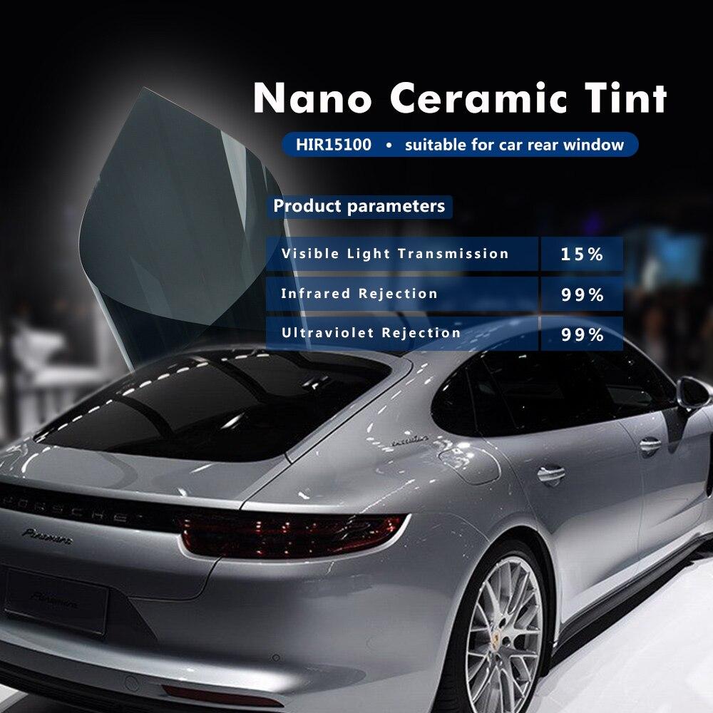 HOHOFILM 1,52X30 m negro 15% VLT película de ventana 99% UV resistente a los arañazos Auto coche de oficina de hogar-in Películas decorativas from Hogar y Mascotas    1