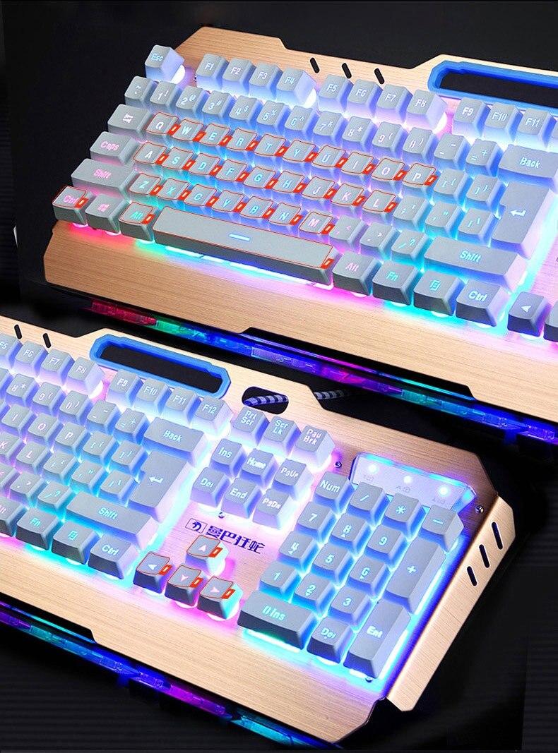Novo teclado de jogos com fio 104
