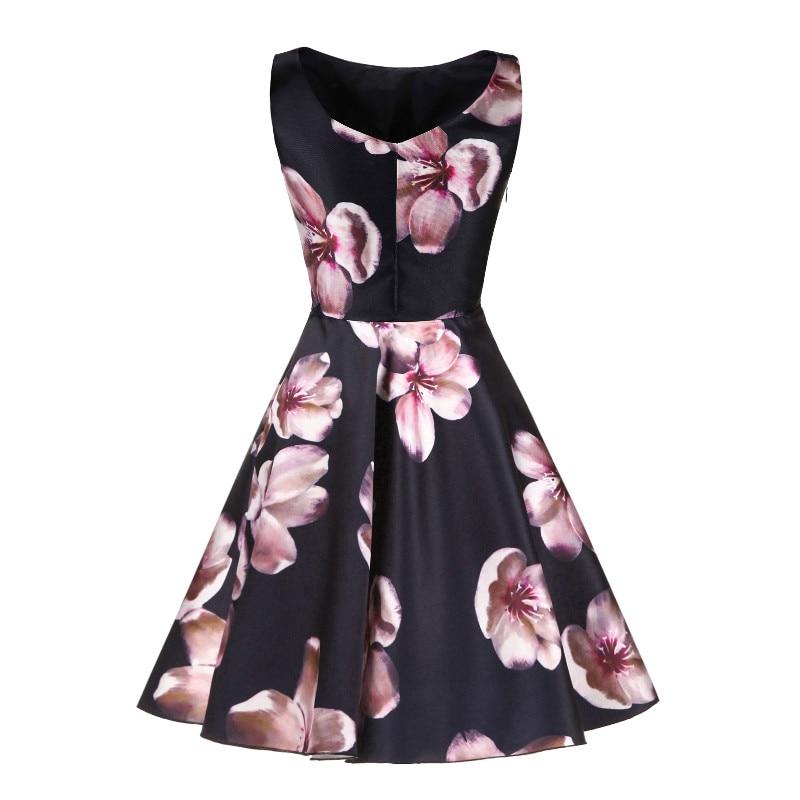 W.JOLI korte avondjurken O-hals bloemen Bloemenprint prom dresses - Jurken voor bijzondere gelegenheden - Foto 3