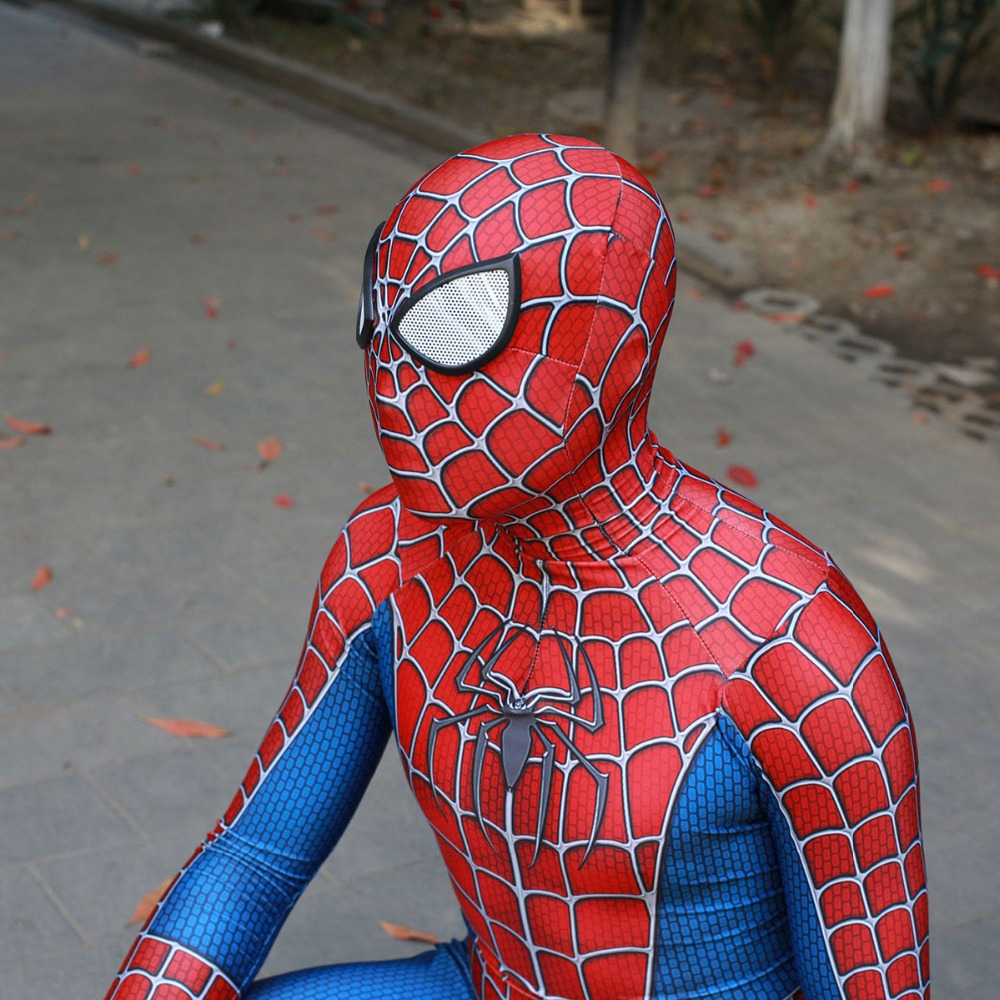 Children Raimi Spiderman Costumes Spandex Halloween Cosplay Party Bodysuit Tony Spider man Superhero Boys Girls Costume