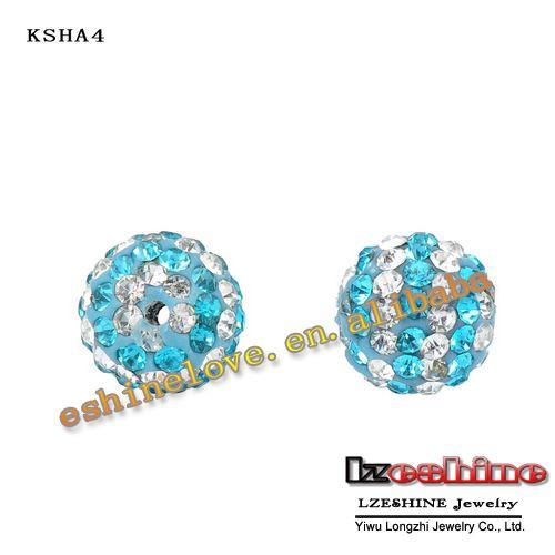 рождество оптовая продажа шамбалы бусины 10 мм AB и клей круг кристалл шамбалы мячи микс вариант kshamix1