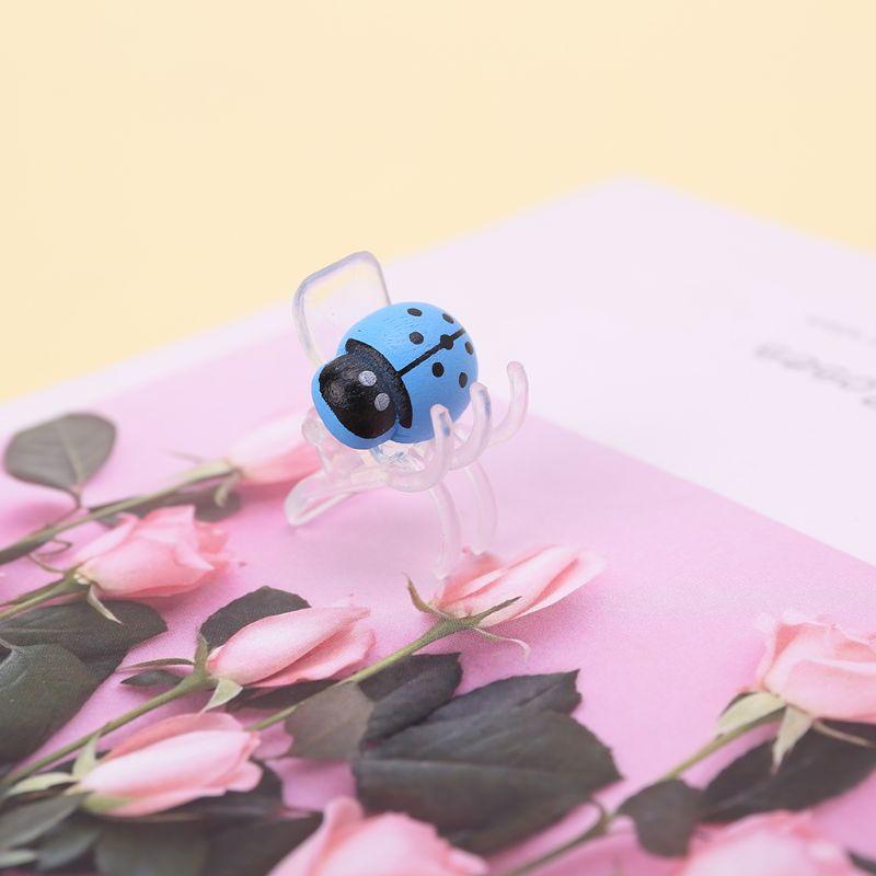 10 шт. в упаковке, милые заколки в виде божьей коровки, орхидеи, Садовый цветок, Cymbidium, пластиковый зажим, опорные зажимы для опоры, стебли, стебли, лозы