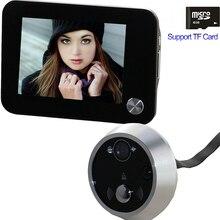Free доставка Глазок Телезритель Двери Глаз Камеры Видео Домофон Поддержка TF Карта Ночного Видения Главная Безопасность