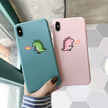 Phone Case For iPhone 6 6s 7 8 Plus Cute Caroon Dinosaur Couples Case For iPhone XS Max XR XS Silicone Soft TPU Back Case Cover джемпер caroon