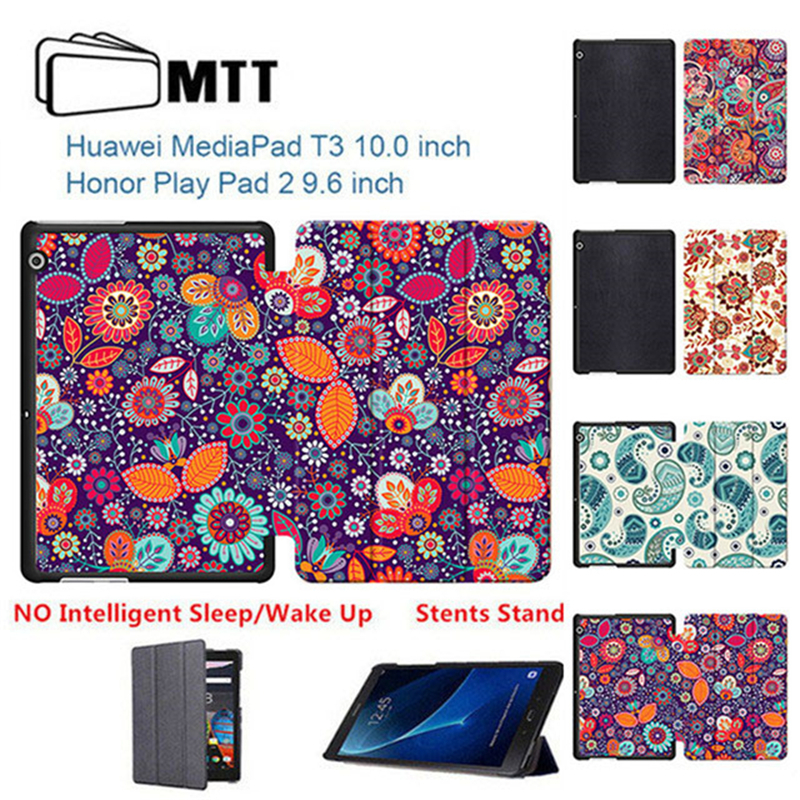 Media Confidential 2017 09 10: Color Clover Flowers Trifold PU Leather Cover For 2017