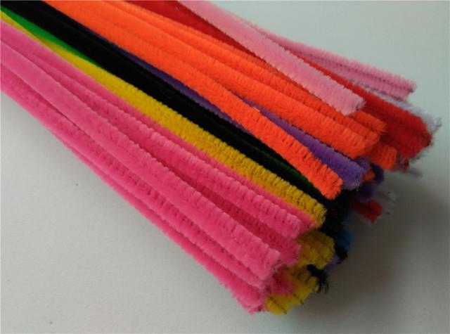 Happyxuan 2packs (200pcs) Multicolour Chenille Stems Pipe Cleaners Handmade DIY Art Craft Material kid Creativity handicraft Toy