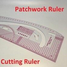 Multifunctional patchwork ruler plastic cutting ruler clothing sample grading rulers patchwork ruler 3245