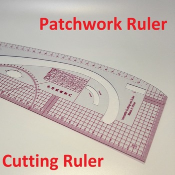 Multifunctional Patchwork Ruler Plastic Cutting Ruler Clothing Sample Grading Rulers Patchwork-ruler 3245