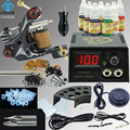OPHIR Complete Tattoo Kit Liner Shader Tattoo Machine Gun 7 Colors Tattoo Ink Needle Nozzle Grip for Beginner Body Art _TA002