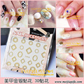 1 3D sheets Nail Art Metallic Gold silver different patterns Design Transfer Nail Stickers Decals DIY Nail Art Foils Stamp Tools