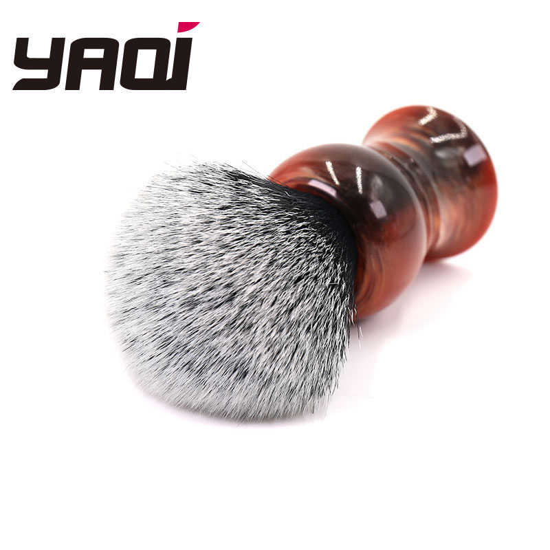 Yaqi 28mm Tuxedo Synthetic Knot Men's Shaving Brush