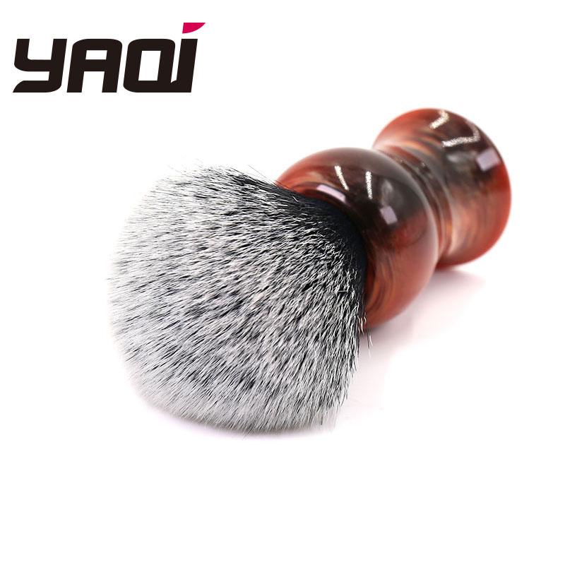 Yaqi 28mm Tuxedo Synthetic Knot Men's Shaving Brush
