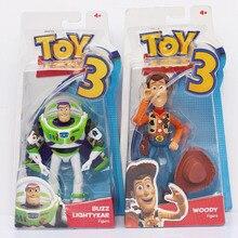 3 pçs/set 2 Toy Story Buzz Lightyear + Woody Sheriff PVC Action Figure Modelo Toy Dolls Para Crianças Grandes Presentes 18 cm
