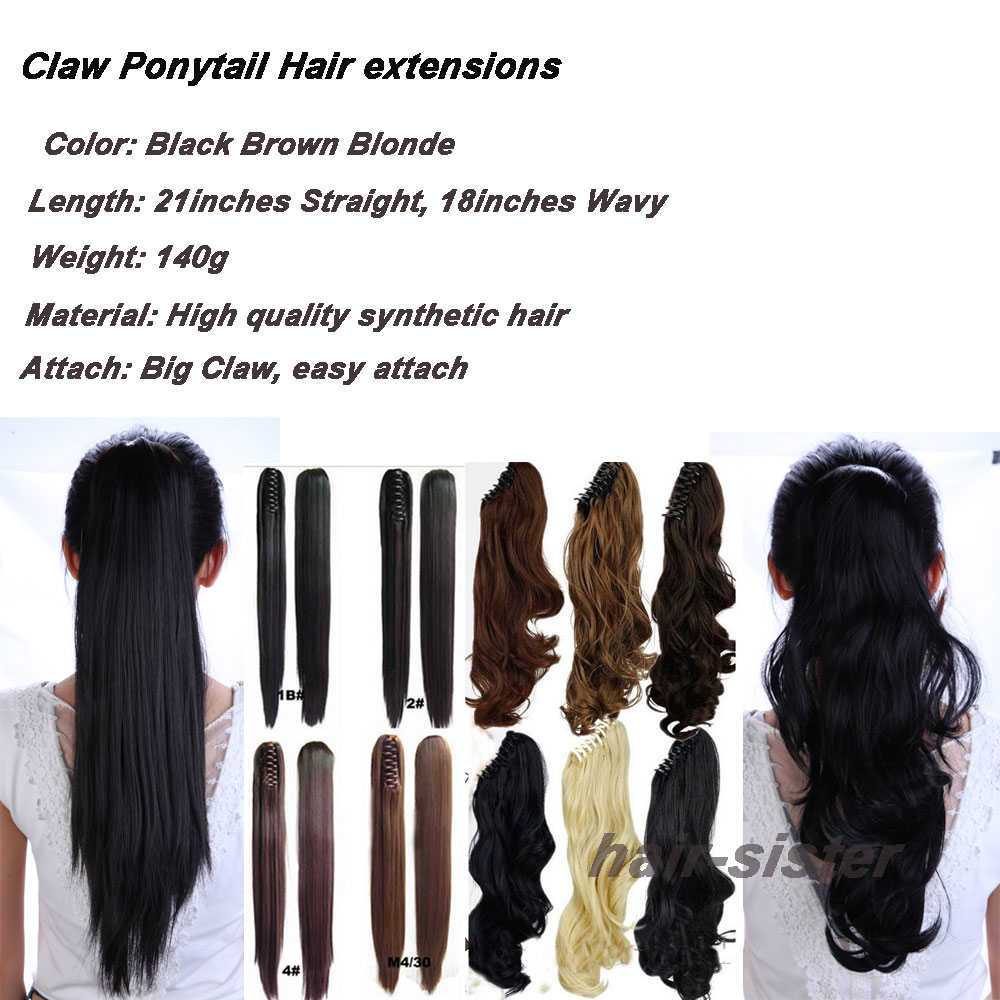 Clearance hair extensions image collections hair extension clearance stock long big wavy claw ponytail clip in pony tail hair clearance stock long big pmusecretfo Gallery