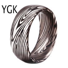 hot deal buy free shipping top quality fine jewelry hot sales 8mm black domethe damascus pattern engraved men's tungsten carbide wedding ring