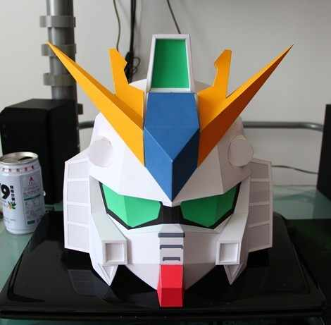 SD Gundam Helmet Headdress Mask DIY Handmade Puzzle Assembling Can Wearable Cosplay Toy