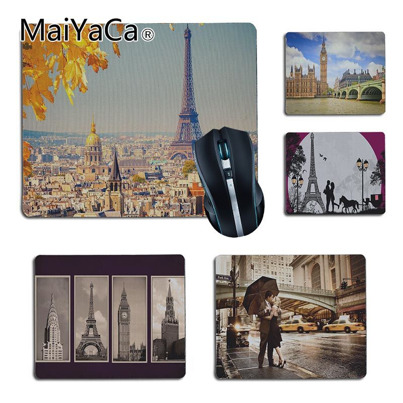 MaiYaCa New Arrivals London Paris New york Lover Autumn Maple Laptop Computer Mousepad Size for 25X29cm 18x22cm Gaming Mousepads