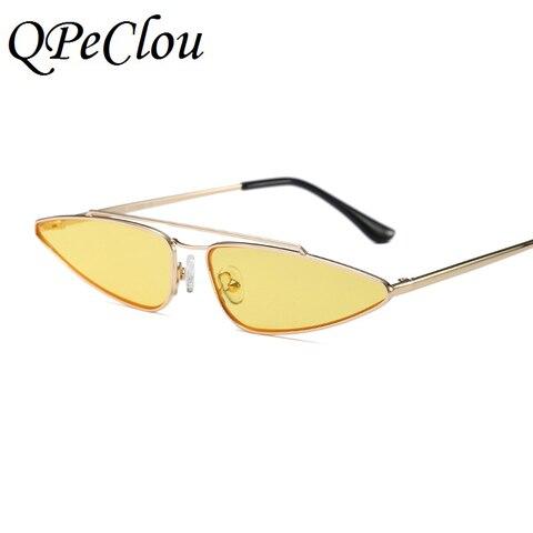 QPeClou Modern Style Small Water Drop Shaped Sunglasses Women Fashion Cat Eye Sun Glasses Female Brand 2018 New Eyewear UV400 Multan
