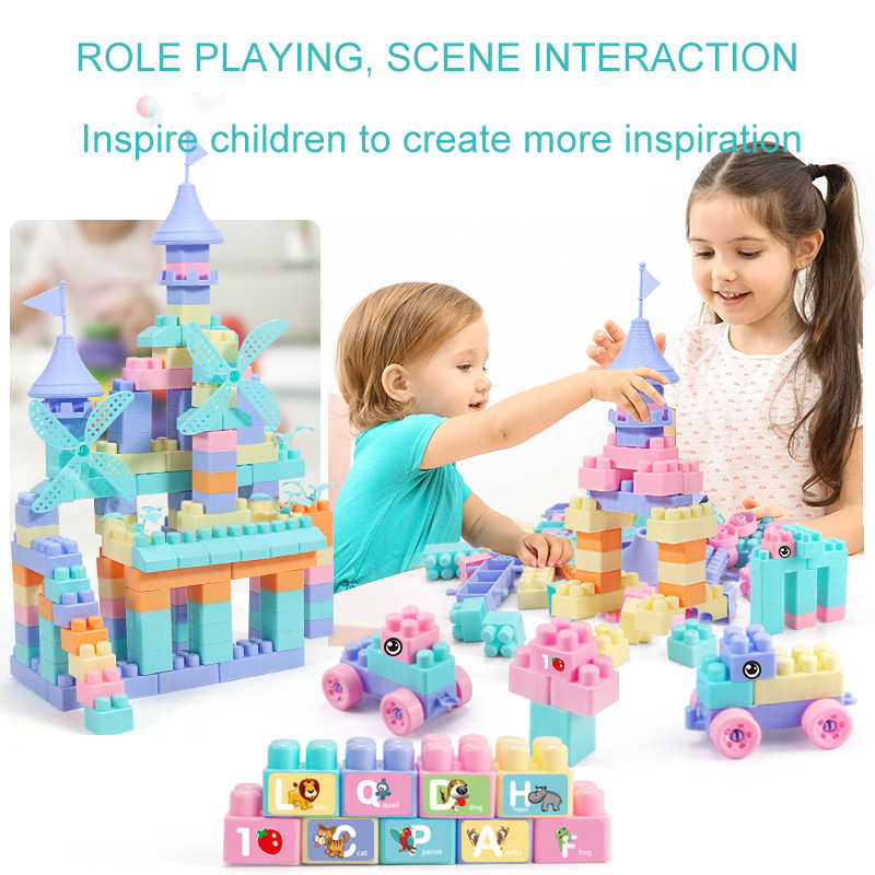 220 Pcs/set Mainan Blok Bangunan Partikel Kecil ABS Plastik Mainan Kreatif Batu Bata DIY Dirakit Mainan Gadis Hadiah Ulang Tahun