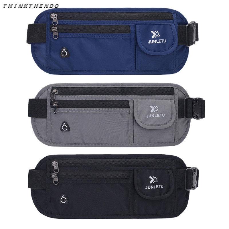 Men Women Waist Pack New Slim Travel Pouch Hidden Compact Money Passport ID Waist Holder Bag