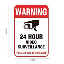 1pc Monitor Warning Sticker Camera Sticker Signage Warning And Safety Signs Cctv Video Surveillance Security Camera Sticker(China)