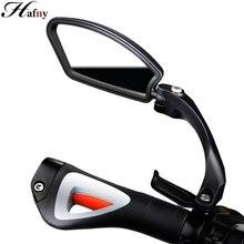 Hafny 자전거 스테인레스 스틸 렌즈 미러 MTB 핸들 바 사이드 안전 후면보기 미러 도로 자전거 사이클링 유연한 백미러