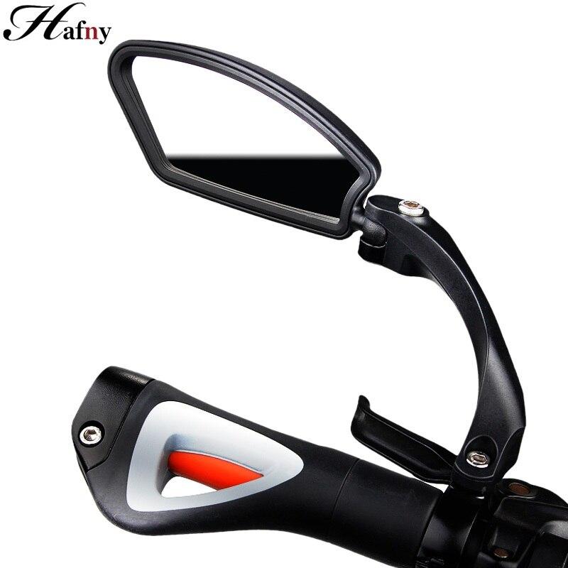 Hafny bicicleta de aço inoxidável lente espelho mtb guiador lateral segurança espelho retrovisor da bicicleta estrada ciclismo espelhos retrovisores flexíveis