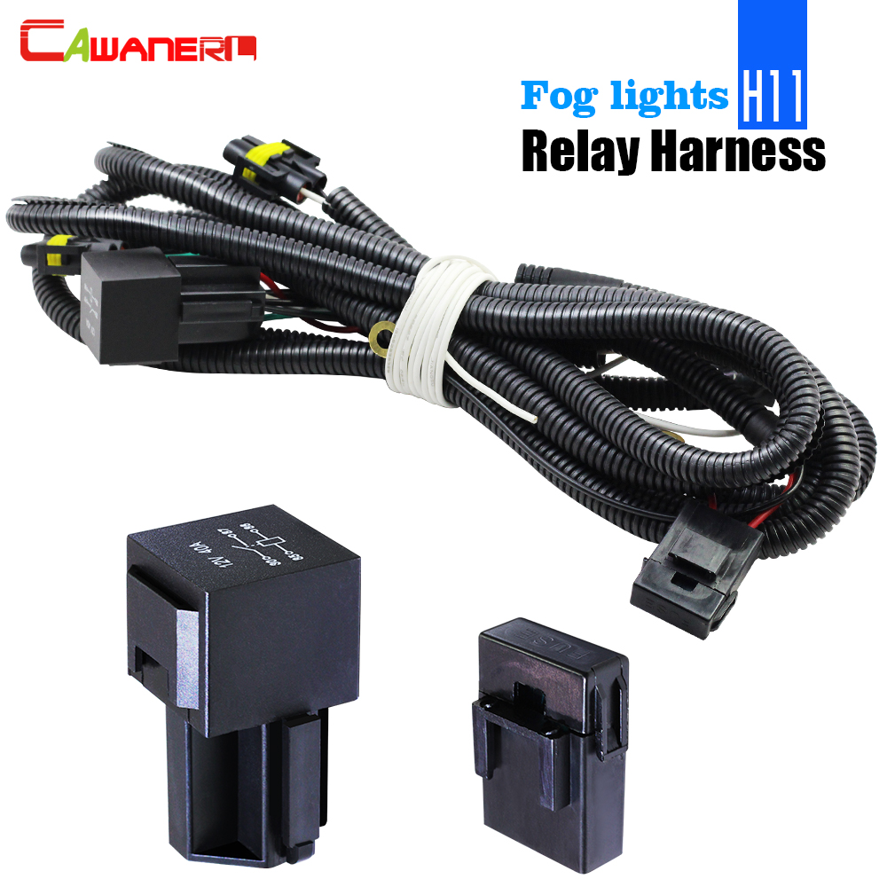 hight resolution of cawanerl car fog light wiring harness h11 socket wire relay 40a for honda acura nissan infiniti toyota lexus suzuki renault