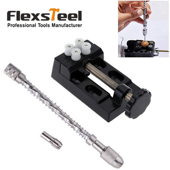 DIY Miniature Carving Tools Set Micro Pin Vice Manual Hand Drill Chuck Spiral Push+Mini Walnut Vise Clamp Table Bench Vice g high quality portable mini pin vise wood spiral hand push drill chuck for jewelry tool micro twist bit tools hand drills t
