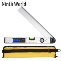 400mm/16inch 0 225 Degree Protractor Spirit Level Digital Angle Finder Gauge Meter Angle Finder With Level Bubble