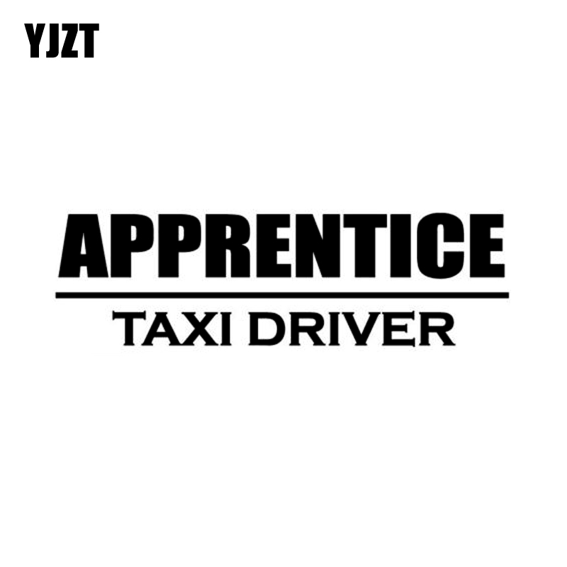 YJZT 20*5.8CM TAXI DRIVER APPRENTICE Cab Decals Car Window Sticker Black/Silver Vinyl S8-1665