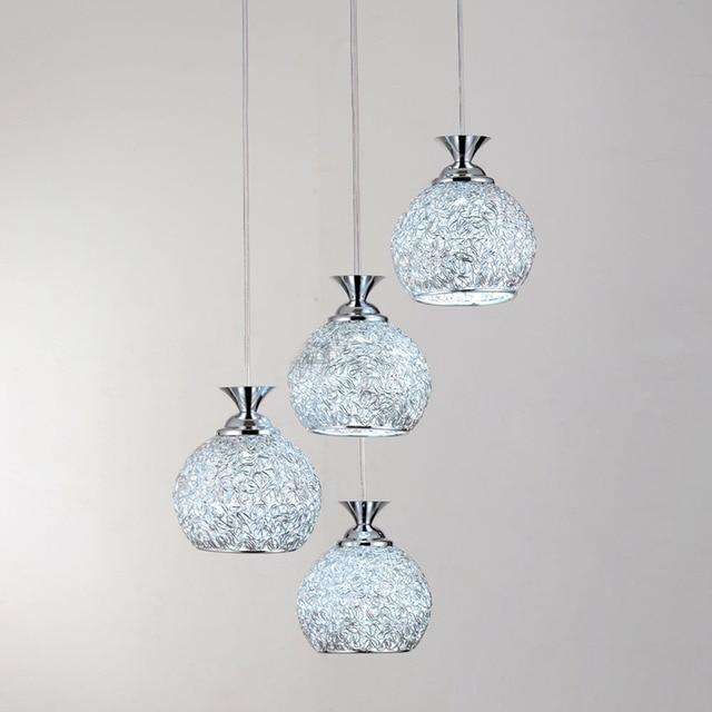 4 Lichter Esszimmer Aluminiumdraht Ball Deckenleuchte Bar Zhler Hngende Lampe Wohnzimmer Galerie Flur