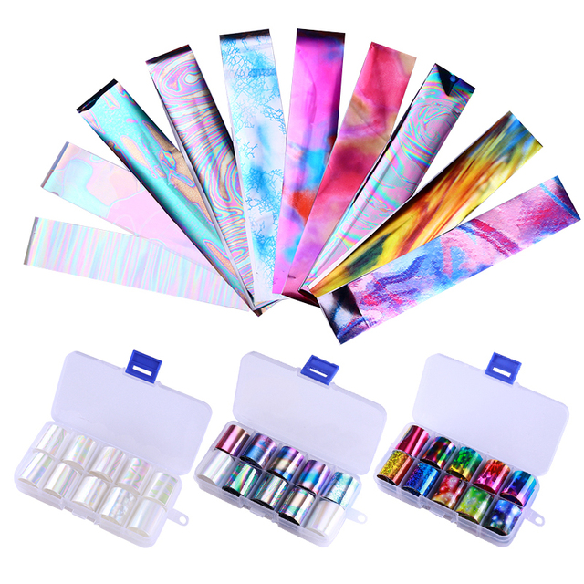 10 Pcs Holographic Nail Foil