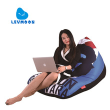 LEVMOON Beanbag Sofa Chair Che Guevara Seat Zac Comfort Bean Bag Bed Cover Without Filling Cotton Indoor Beanbags Lounge Chair