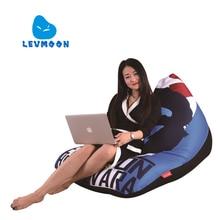 LEVMOON Beanbag kanapa krzesło Che Guevara Zac komfort siedzenia worek fasoli obejmuje łóżka bez napełniania bawełna kryty piłek fotel
