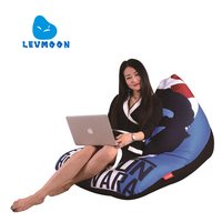 LEVMOON Beanbag Sofa Chair Che Guevara Seat Zac Comfort Bean Bag Bed Cover Without Filling Cotton