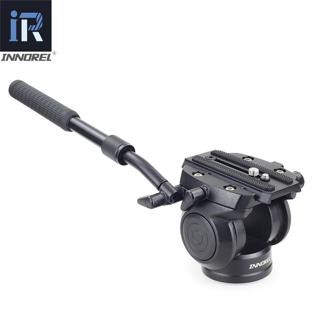 H70 Video Tripod head Fluid monopod Head Hydraulic Damping for DSLR camera Bird Watching 8kg load Portable 2 sections handle 1