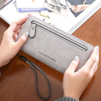 Vintage Long Brand Women Wallets Clutch Bag Ladies Coin Purses Female Wallets Wristlet Big Womens Wallets