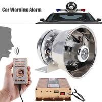 12V 400W 18 Tone Loud Car Warning Alarm Police Siren Horn PA Speaker with MIC System & Wireless Remote Control