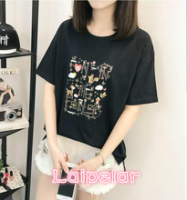 High Quality  Cotton Basic Loose T-shirt Women Casual O-neck T Shirt Female For 3D Short Sleeve Laipelar