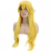 Головной убор+ Длинный натуральный волнистый персиковый желтый костюм принцессы Toadstool Синтетический Косплей парик для Хэллоуина
