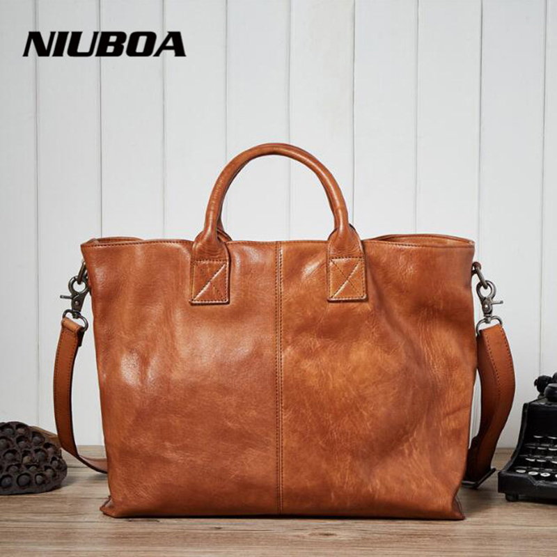 NIUBOA Soft Genuine Leather Women Tote Bag Leather Vintage Brand Work Handbag New Euro Women Bucket Bag Elegant Shoulder Bags niuboa soft genuine leather women tote bag leather vintage brand work handbag new euro women bucket bag elegant shoulder bags