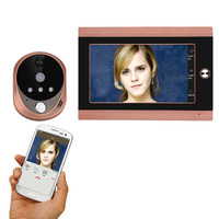 720P WiFi Wireless Digital Peephole Door Viewer 7inch Front Video Door Peephole Camera Wifi Doorbell with Intercom or take pictu