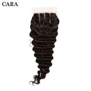 Cierre de Base de seda 4x4, cierre de encaje de onda profunda, cabello humano virgen brasileño, pre-arrancado, nudos blanqueados, parte libre de CARA