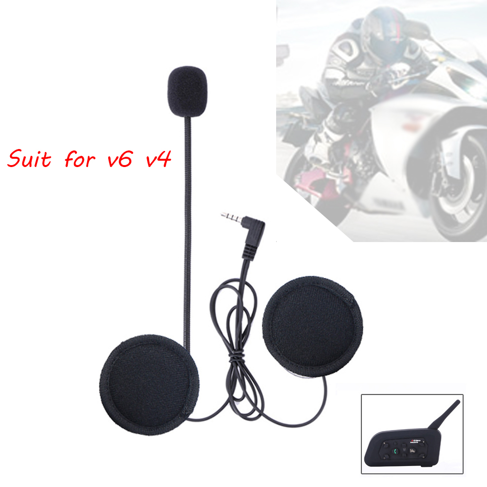 Accessories Bluetooth Headset Headphone Microphone For V4/V6 Motorcycle Helmet Intercom