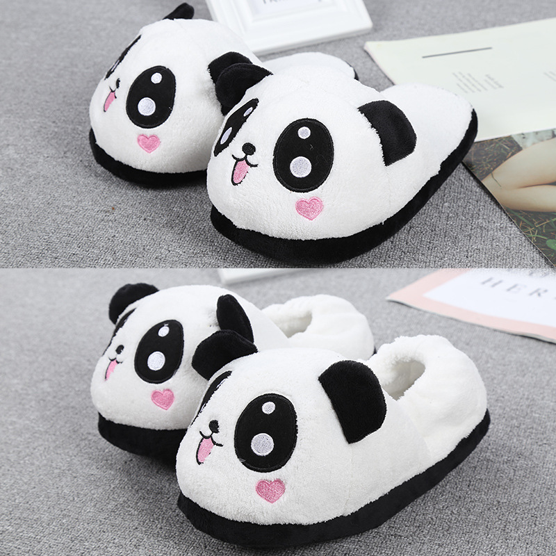 Winter Cotton Family Couple Indoor Slippers 6 Styles Lovely Cartoon Panda Home Shoes For Big Children And Adult Nice Lover Gifts