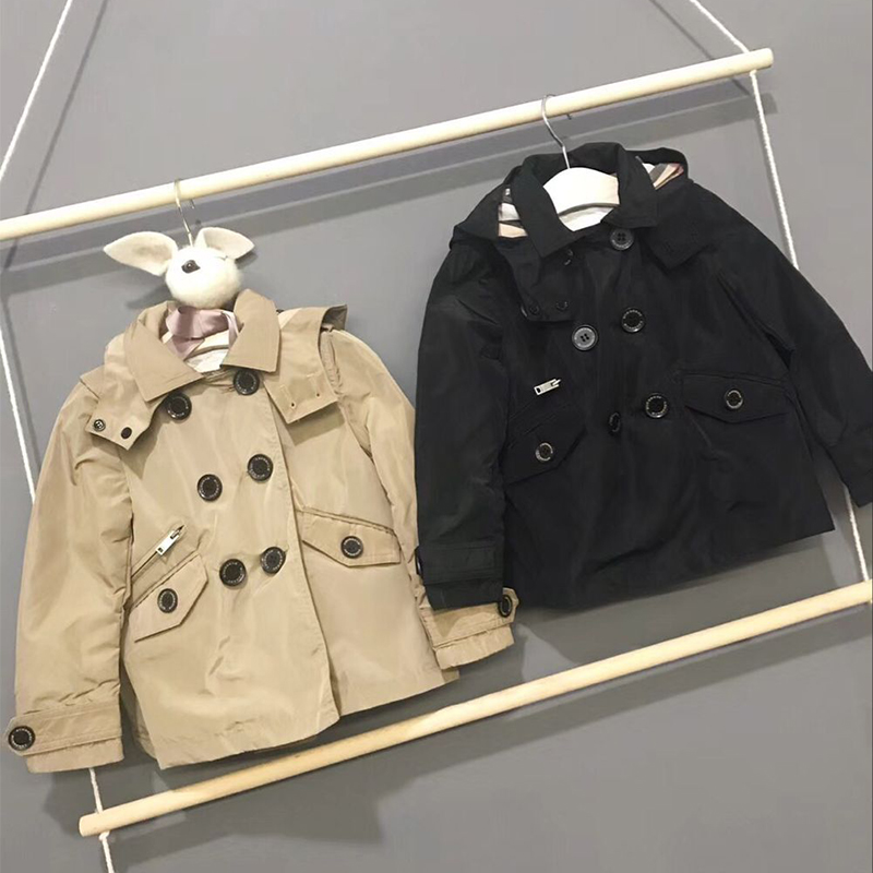 цена на Kids Hooded Jackets Coat Boys 2 Colors Hoodie Outerwear Girls Jacket Windbreaker Children's Clothing