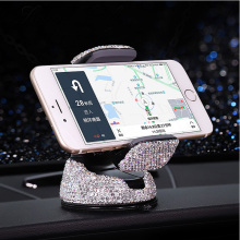 Bling Crystal Diamond Universal Car Phone Holder for iPhone Mobile phone Stand Air Vent Mount Support GPS
